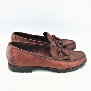 COLE HAAN 10N Loafers Brown Leather Womens